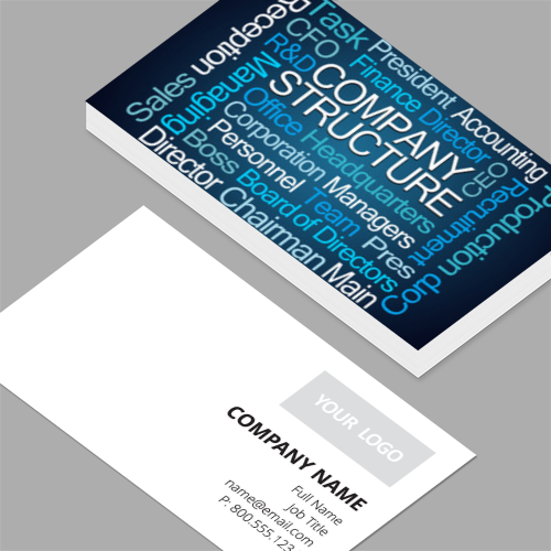 Vice president of sales business cards standard horizontal vice president of sales business cards company structure word cloud standard horizontal business cards colourmoves