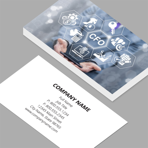 Chief operating officer business cards standard horizontal chief operating officer business cards cfo chief financial officer business concept leadership colourmoves