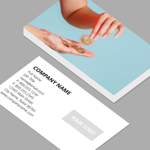 Co founder business cards standard horizontal customizable co founder business cards initial coin offering and token sale standard horizontal business cards colourmoves