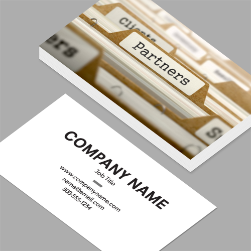 Co owner business cards standard horizontal customizable design co owner business cards partners concept with word on folder standard horizontal business reheart Choice Image